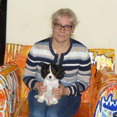 Bagila fühlt sich schon sehr wohl bei Marianne in Finnland